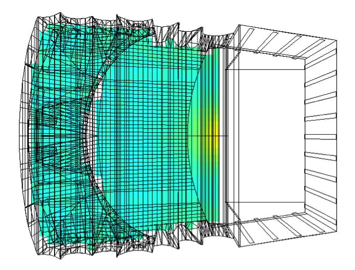 Simulation de la projection acoustique interne